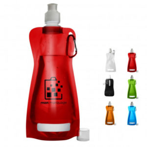Sac du voyageur : prendre une garde gourde pliable, bouteille d'eau pliable en plastique, très pratique pour voyager, à mettre dans son sac.