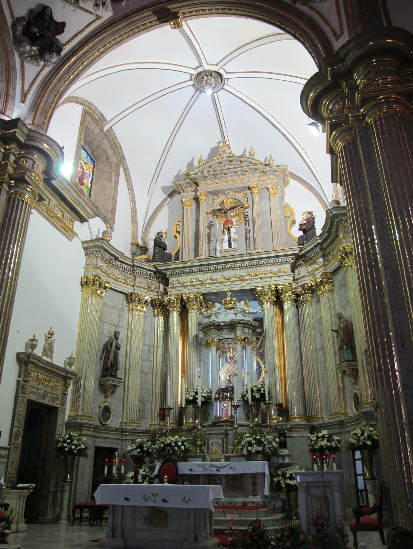 intérieur de la basilique de zapopan à guadalajara, Mexique
