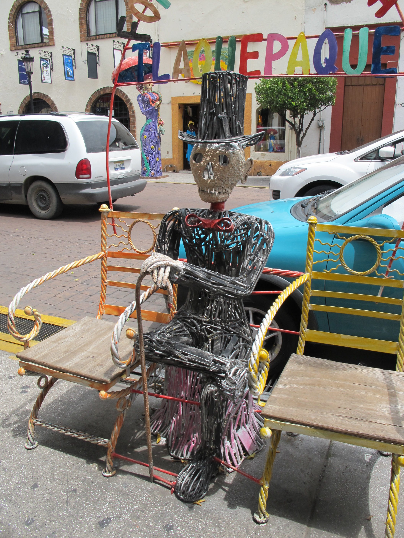 Décoration dans les rues de Tlaquepaque, Guadalajara, Mexique.