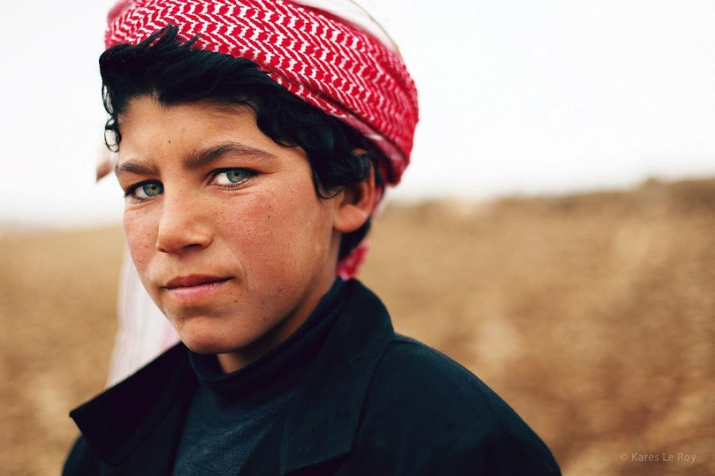 Portrait d'un jeune garçon, Koya, en Irak, Kuristan, jeune berger, photo du livre 56000 kilomètres