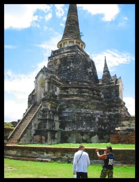 Vestige du royaume de Siam ayutthaya
