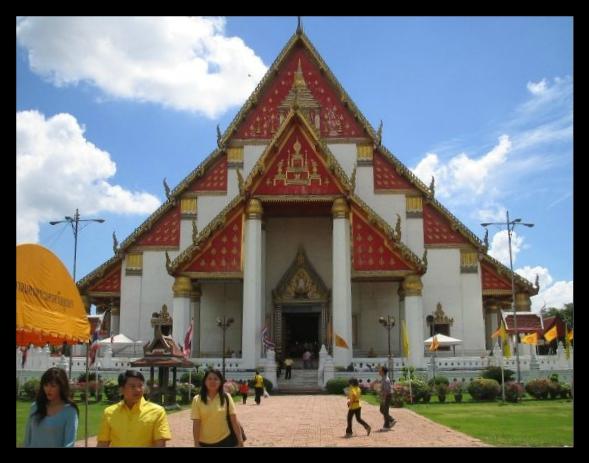 temple dans la ville d'ayutthaya, ancienne capitale du royaume de Siam