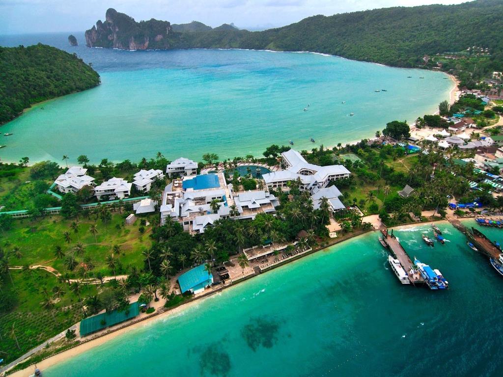 L'île de Koh Phiphi vue du ciel