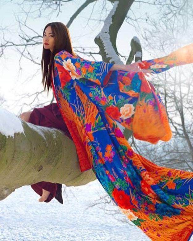 entreprises à soutenir : aoi clothing, kimono japonais