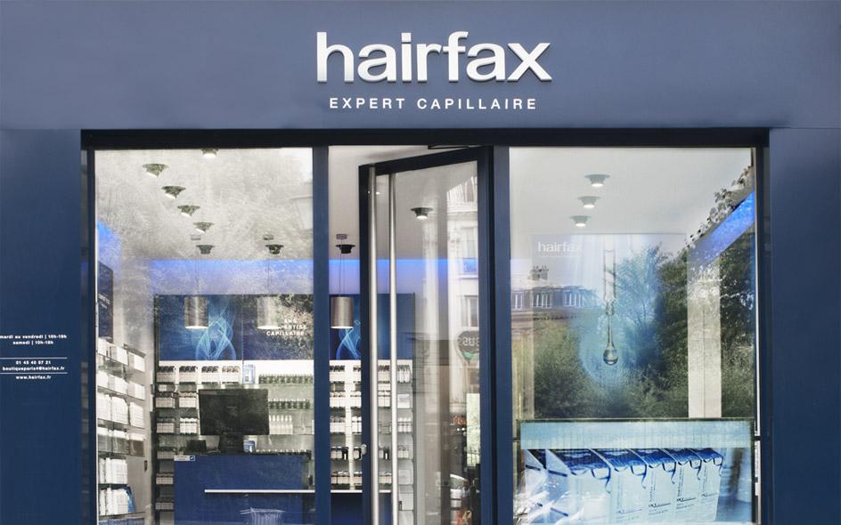 entrée de l'institut Hairfax à Paris